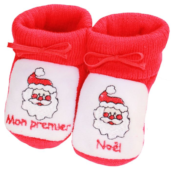 Chaussons Noël rouges
