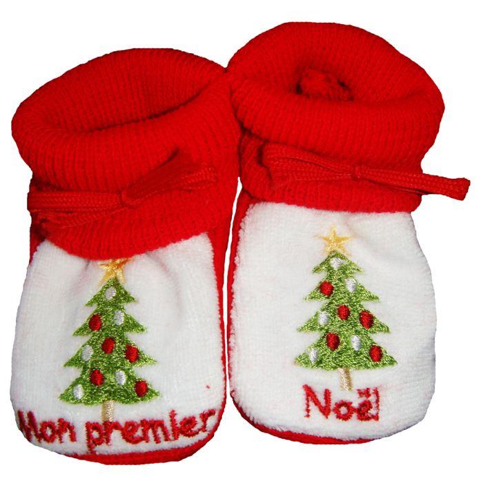 Chaussons bébé esprit Noel